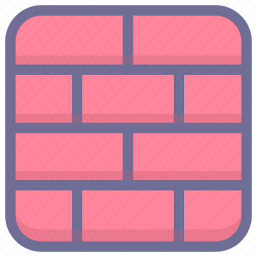 block, firewall, prevent, wall icon