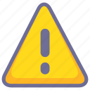 alert, danger, error, warning icon