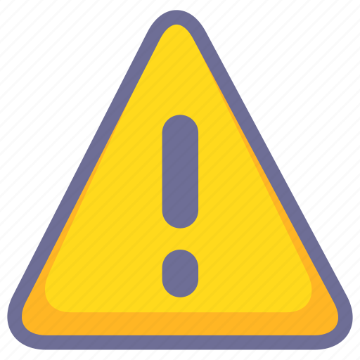 alert, danger, error, warning icon