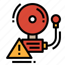 alarm, bell, sound, warning icon