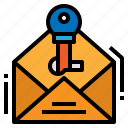 email, login, passkey, password icon