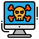 criminal, cyber, hacker, malware icon