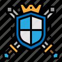security, shield, sword, war icon