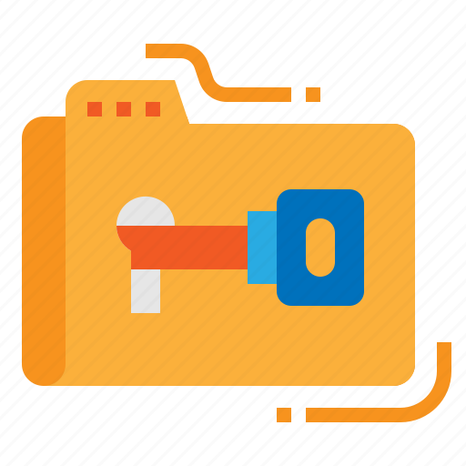 access, file, folder, password icon