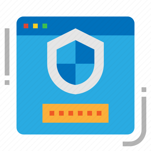 password, protection, security, web icon