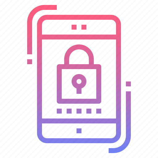 mobile, password, protection, security icon
