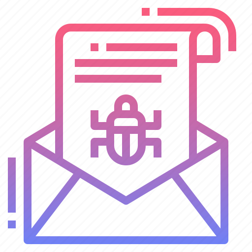 email, malware, spam, virus icon