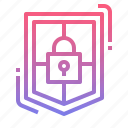 antivirus, padlock, security, shield icon