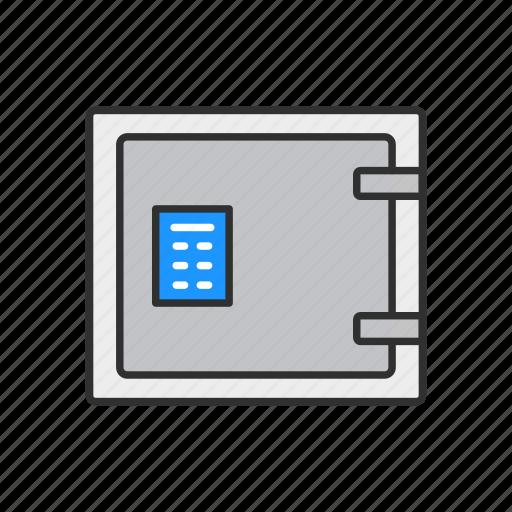 bank, bank vault, digital safe, vault icon