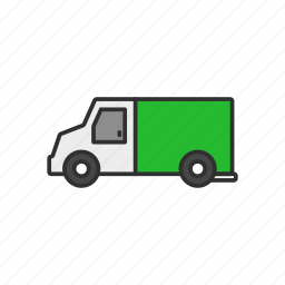 armored truck, bank truck, money truck, truck icon