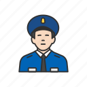 cop, guard, police man, security guard icon