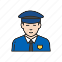 cop, guard, police man, security gurad icon