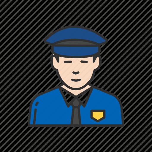 cop, guard, police man, security gurad icon