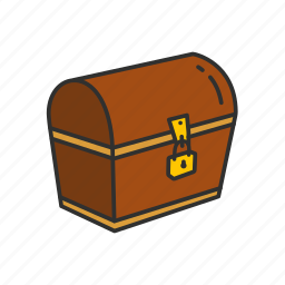 chest, deposit box, locked chest, treasure chest icon