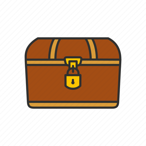 chest, deposit box, locked chest, treasure icon