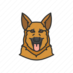 dog, german shepard, k9, police dog icon