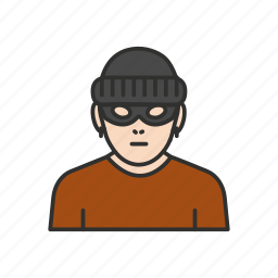 bank robber, masked man, robber, theif icon