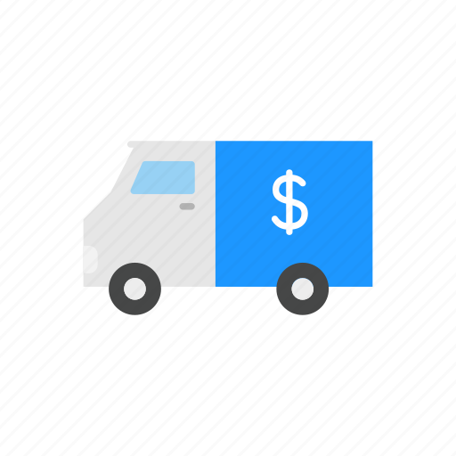 armored truck, money truck, security, truck icon