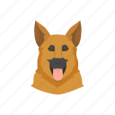dog, k9, security, security dog icon