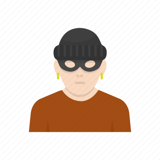 masked man, robber, robber man, thief icon