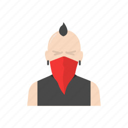 masked man, robber, robber man, thief icon