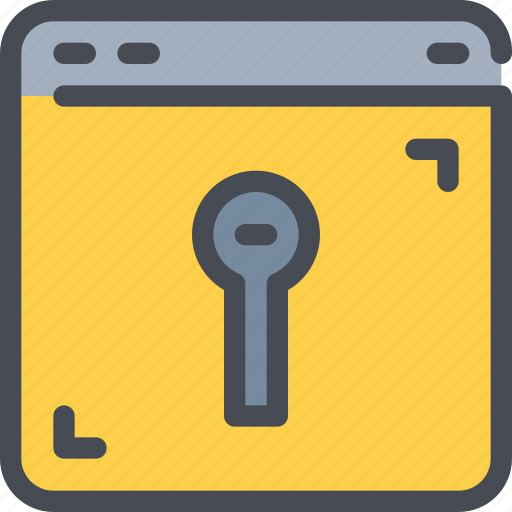 browser, internet, padlock, protection, secure, security icon