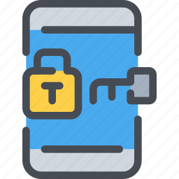 mobile, padlock, protection, secure, security, smartphone icon