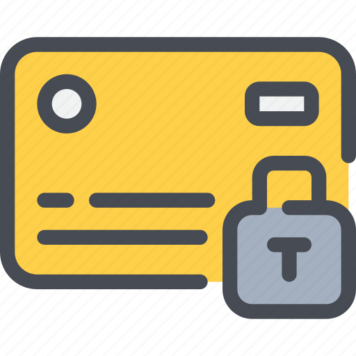 credit card, padlock, payment, protection, secure, security icon