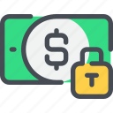 bank, money, padlock, payment, protection, secure, security icon