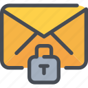 email, letter, mail, padlock, protection, secure, security icon