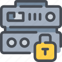databse, network, protection, secure, security, server icon