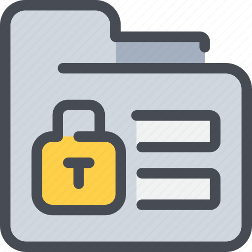 file, folder, padlock, protection, secure, security icon