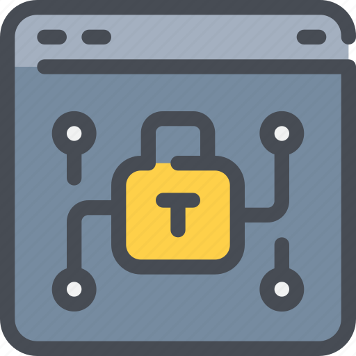 browser, internet, network, padlock, protection, secure, security icon