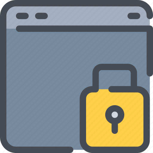 Browser, internet, padlock, protection, secure, security icon - Download on Iconfinder