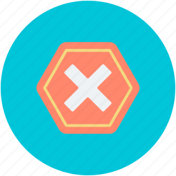 cancel sign, forbidden, restriction, road sign, stop signal icon