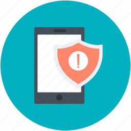 exclamation mark, mobile, mobile error, security alert, warning sign icon