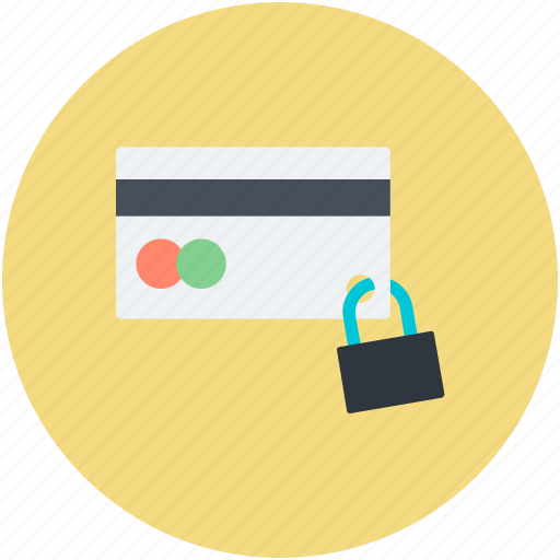 credit card, credit card security, finance, padlock sign, secure banking icon