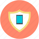 mobile, mobile security, mobile shield, security concepts, security system icon