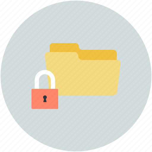 folder and padlock, folder protection, safe documents, safe files, secure files icon