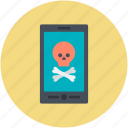jolly roger, mobile device, mobile net, mobile screen, pirate sign