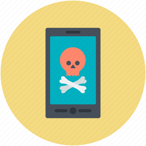 jolly roger, mobile device, mobile net, mobile screen, pirate sign icon