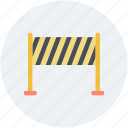 barrier, boundary, construction barrier, road sign, under construction icon