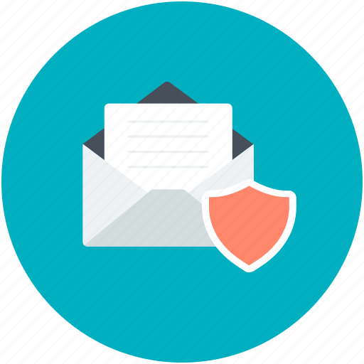 communication safety, digital security, email security, email shield, internet correspondence icon