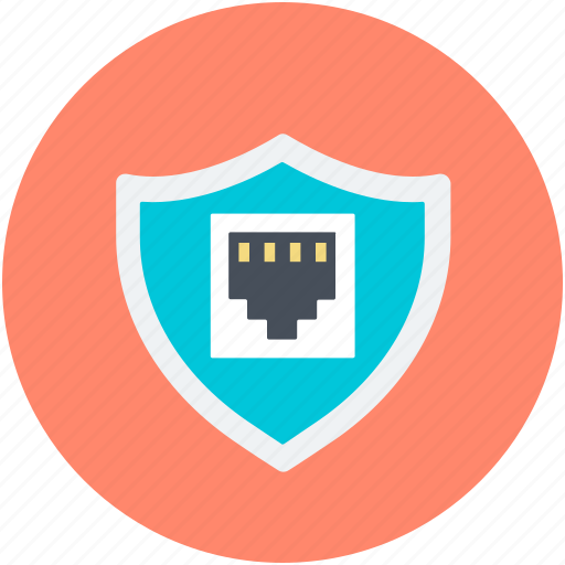 digital security, globe, internet security, network protection, shield sign icon