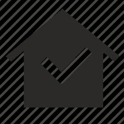 accept, home icon