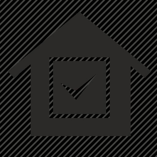 accpet, home, house, ok icon