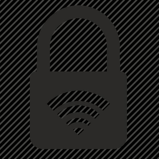 internet, lock, padlock, web, wifi icon