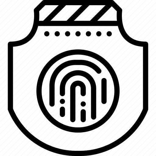 fingerprint, guard, protection, secure, security, shield icon