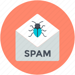 junk e-mail, junk mail, spam envelope, spam message, unwanted email icon