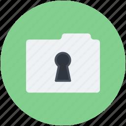 data security, file defence, folder keyhole, portfolio, secret data icon